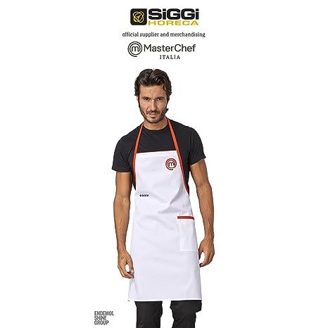 Grembiule Cuoco Masterchef Siggi Bianco  Amazon.it  Sport e tempo libero a0186b6cc445