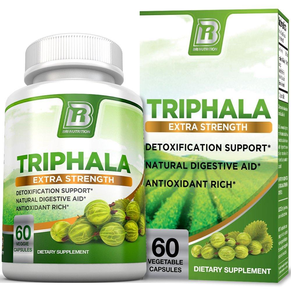 BRI Nutrition Triphala - 1000mg Veggie Himalaya Triphala Pure Extract Plus - 30 Day Supply - 60ct Veggie Capsules