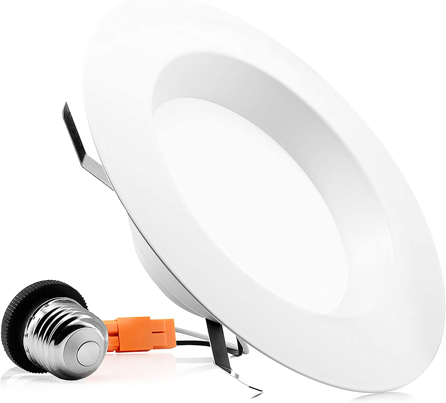 PARMIDA (1 Pack) 5/6 inch Dimmable LED Recessed Retrofit Downlight, 15W (120W Replacement), Easy Installation, 1100lm, Energy Star & ETL-Listed, LED Ceiling Down Light, LED Trim Can Lights, 3000K