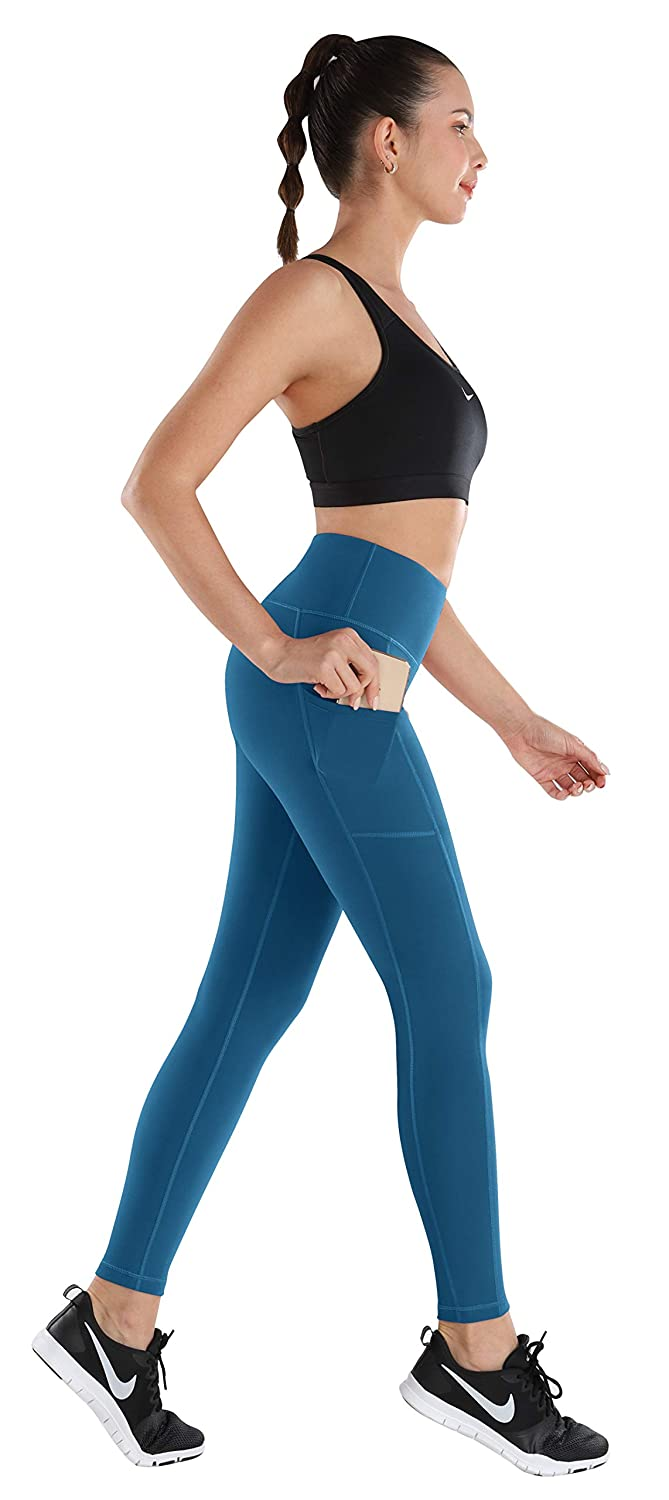 4 Way Stretch Workout Leggings ESPIDOO Yoga Pants with Pockets for Women High Waist Tummy Control