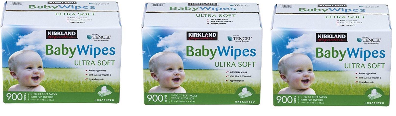 Kirkland Signature Baby Wipes, zKixFp, 3 Boxes of 900 Wipes by Kirkland Signature (Image #1)