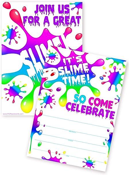 Amazon.com: Tarjetas de invitación para fiestas Pop, 20 ...