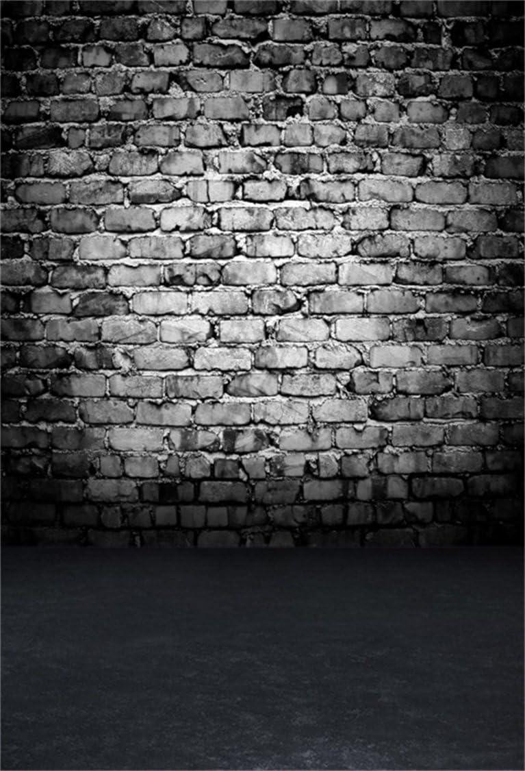 AOFOTO 10x10ft Shabby Brick Wall Photography Backdrop Grunge Photo Studio Background Old Vintage Scene Kid Adult Boy Man Girl Artistic Portrait Photoshoot Props Video Drape Wallpaper