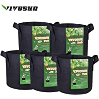 VIVOSUN 5-Pack 300g grow bags