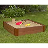 """Frame It All Two"""" Series 4' x 11"""" Composite Square Sandbox Kit"""