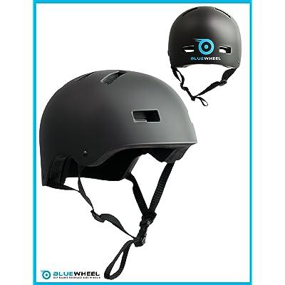 Bluewheel Casque H30 pour Hoverboard, skateboard, BMX, vélo, gyropode, structure à 3 couches, sécurité, confort, système d'aération, Design noir mat adaptable, 50 - 56 cm et 56