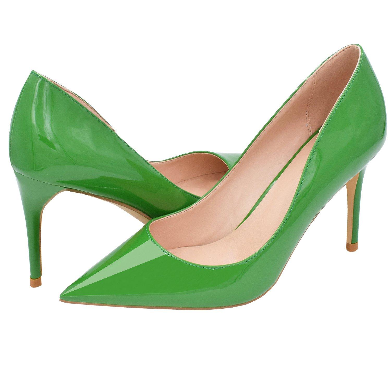 Lovirs , Damen Damen Damen Durchgängies Plateau Sandalen mit Keilabsatz, Grün - Grün Patent - Größe  43 89445d