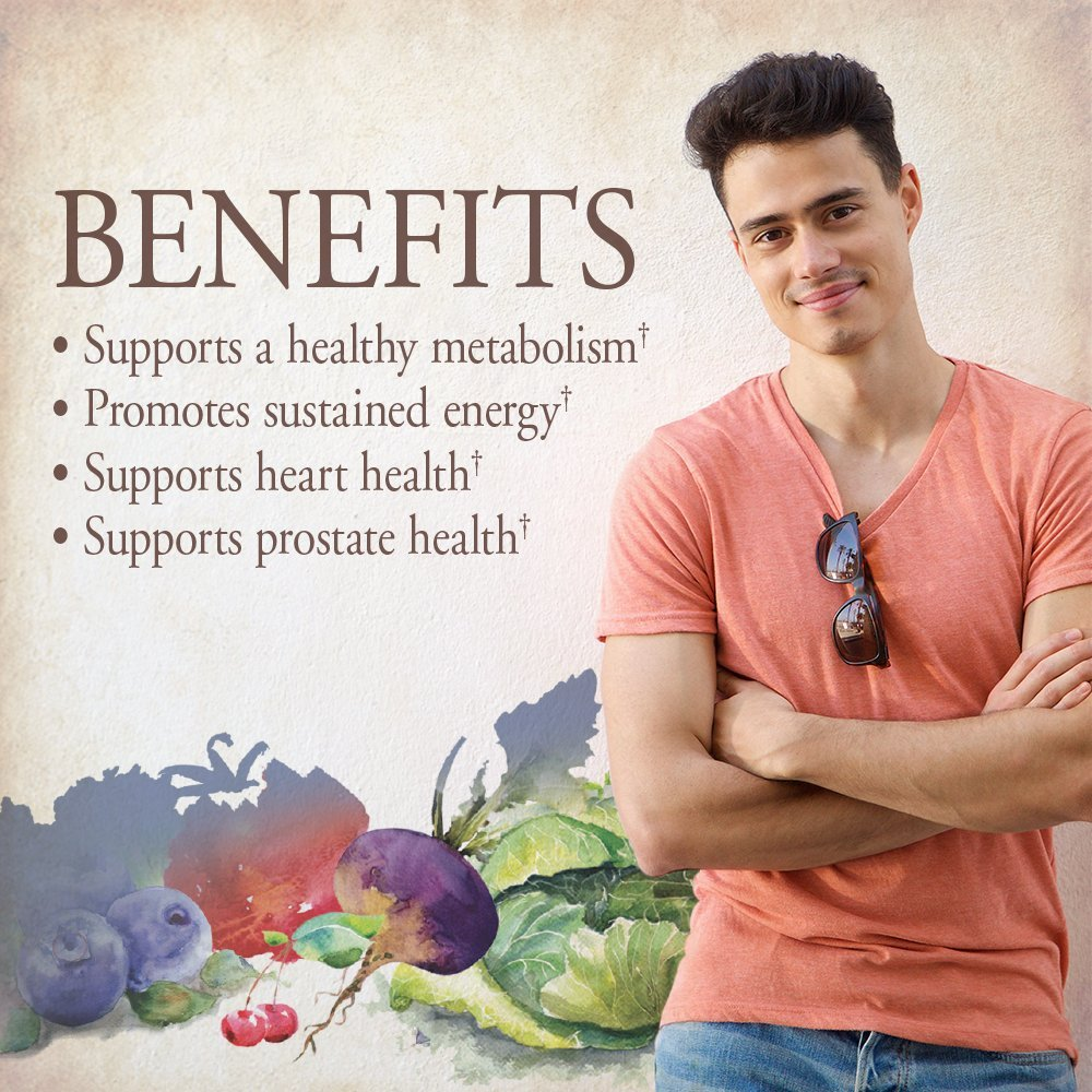 Garden of Life Multivitamin for Men - mykind Organic Men's Whole Food Vitamin Supplement, Vegan, 120 Tablets by Garden of Life (Image #2)
