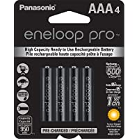 4-Pk. Panasonic eneloop pro AAA High Capacity Ni-MH Pre-Charged Rechargeable Batteries