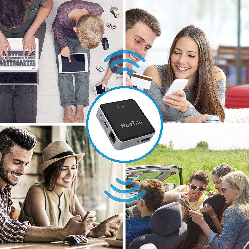 HooToo Wireless Travel Router, USB Port, High Performance- TripMate Nano (Not a Hotspot) by HooToo