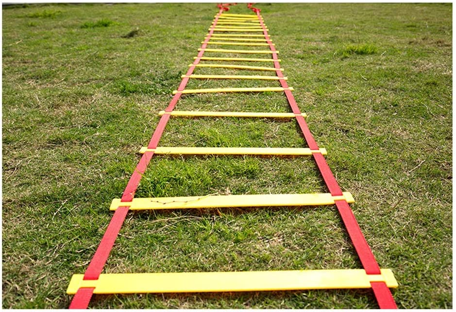 UanPlee La Agilidad De Entrenamiento Escalera De Formación De Coordinación De Los Miembros Escalera De La Juventud 3m (9.84ft) 6 De Baloncesto De Formación/Capacitación Ritmo De Tenis: Amazon.es: Deportes y aire libre