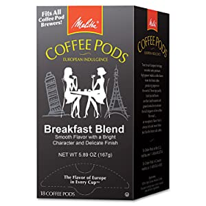 Melitta One: One Coffee Pods, Breakfast Blend, 18 Pods/Box