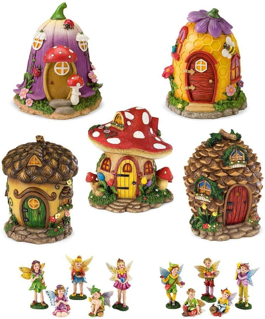 Fairy Village Houses, Resin - Hand-painted - 9