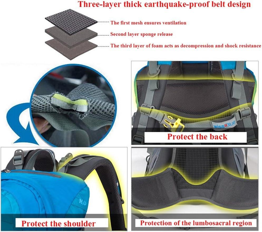 Outdoor Camping Travel Shoulders Backpack Sports Bag Rucksack Riding Bag Nylon Knapsack 35l Waterproof