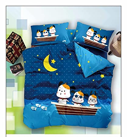Florida Polycotton Double Bedsheet With 2 Pillow Covers   Kids Bedsheet,  Multicolour ,Bedsheets By