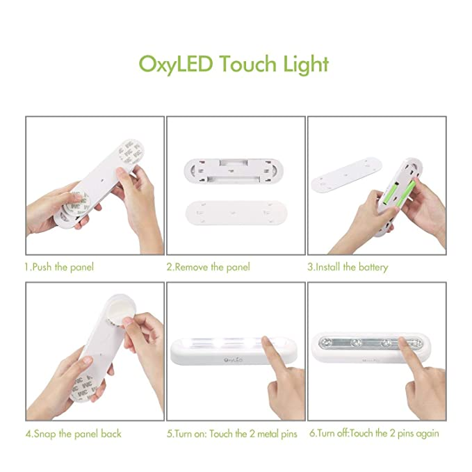 Oxyled T-01 DIY - Lámpara táctil led, ajustable, luz blanca, Pack 2: Amazon.es: Iluminación