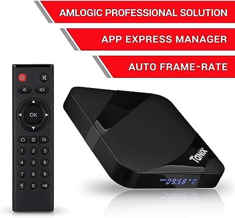 Android TV Box, 2020 TX3 MAX 2 GB RAM 16 GB ROM, Amlogic Quad-Core S905W 64 bits CPU, Tanix Android 9.0 4K 3D H.265 TV Box con BT 4.0: Amazon.es: Informática