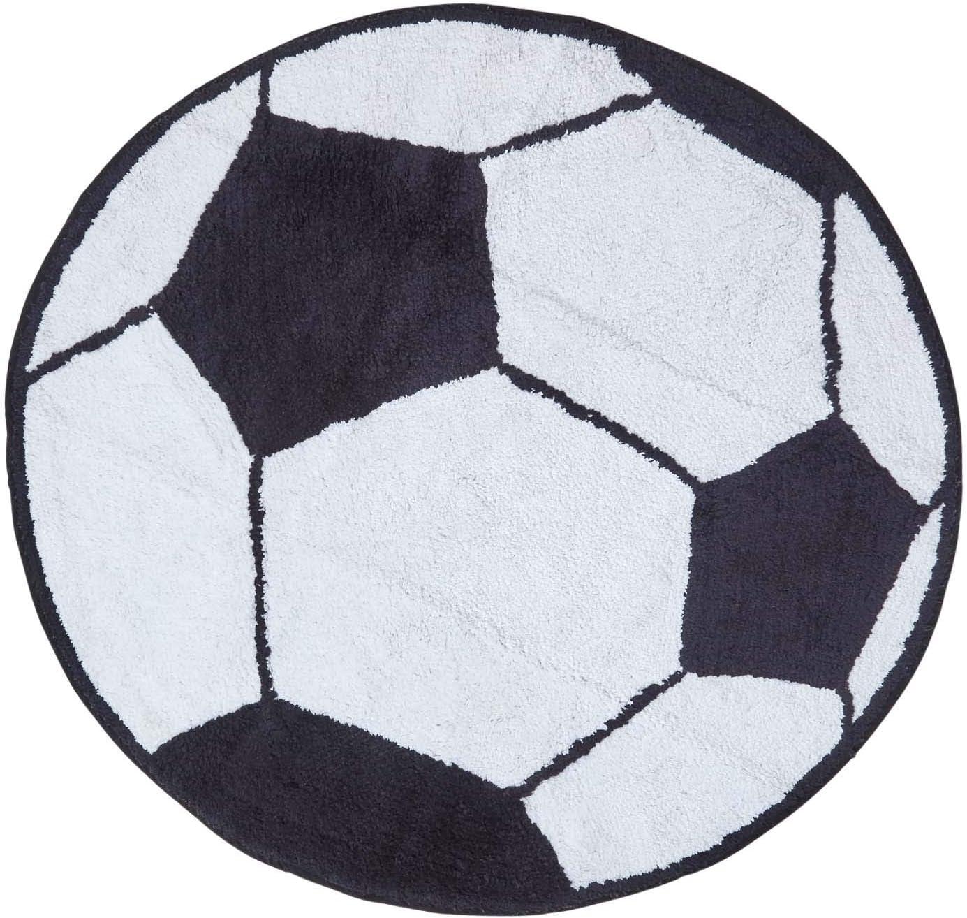 HOMESCAPES Alfombra de 100% Algodón Diseño de Balón de Fútbol ...
