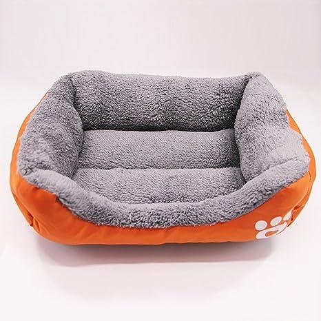 Weiwei Cama de Perro Algodón Terciopelo Mascotas Nido Candy Color Plaza criadero Gato Mat