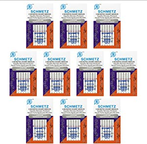 50 Schmetz Chrome Microtex Sewing Machine Needles - Size80/12 - Box of 10 Cards