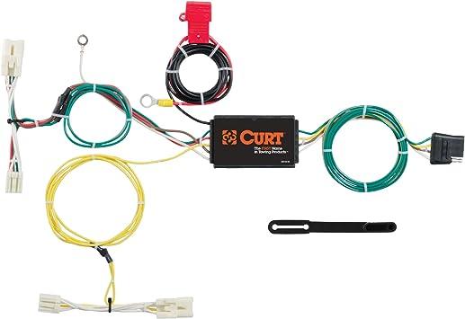 amazon.com: curt 56275 vehicle-side custom 4-pin trailer wiring harness for  select toyota prius c: automotive  amazon.com