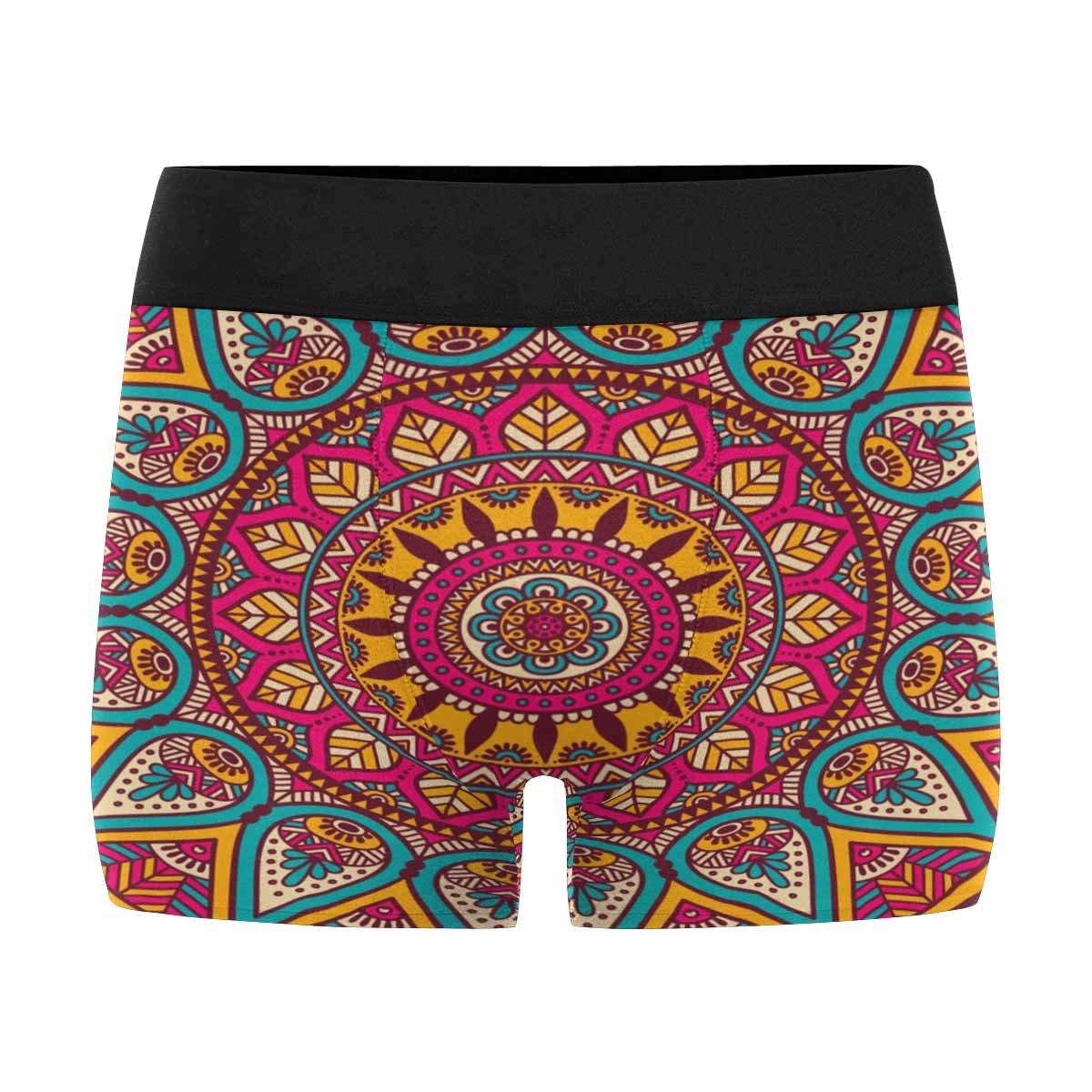 INTERESTPRINT Boxer Briefs Mens Underwear Mandala Vintage Decorative Arabic Indian XXL