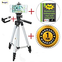 Heyu Tripod 50 inch for Mobile Phone Smartphone Camera iPhone Portable Light Adjustable Flexible Stand Mobile Holder for YouTube and Tiktok Video