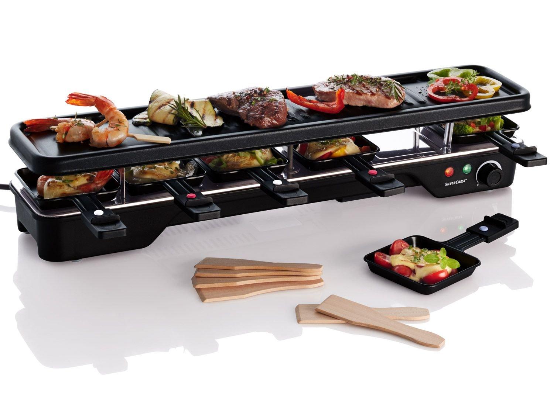Piastra per Raclette e teppanyaki, salvaspazio, fino a 6persone SILVERCREST