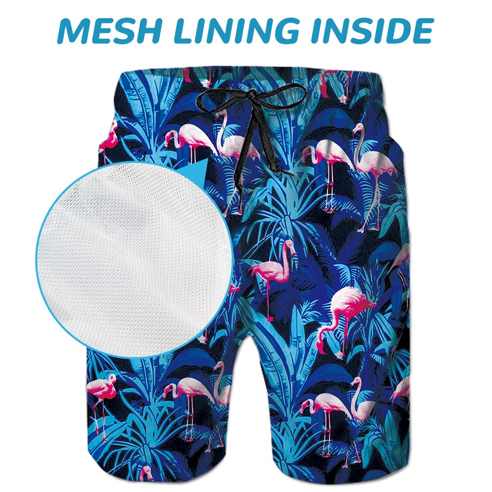 Ahegao Mens Swim Trunks 3D Printed Beach Board Shorts with Pockets Cool Novelty Bathing Suits for Teen Boys