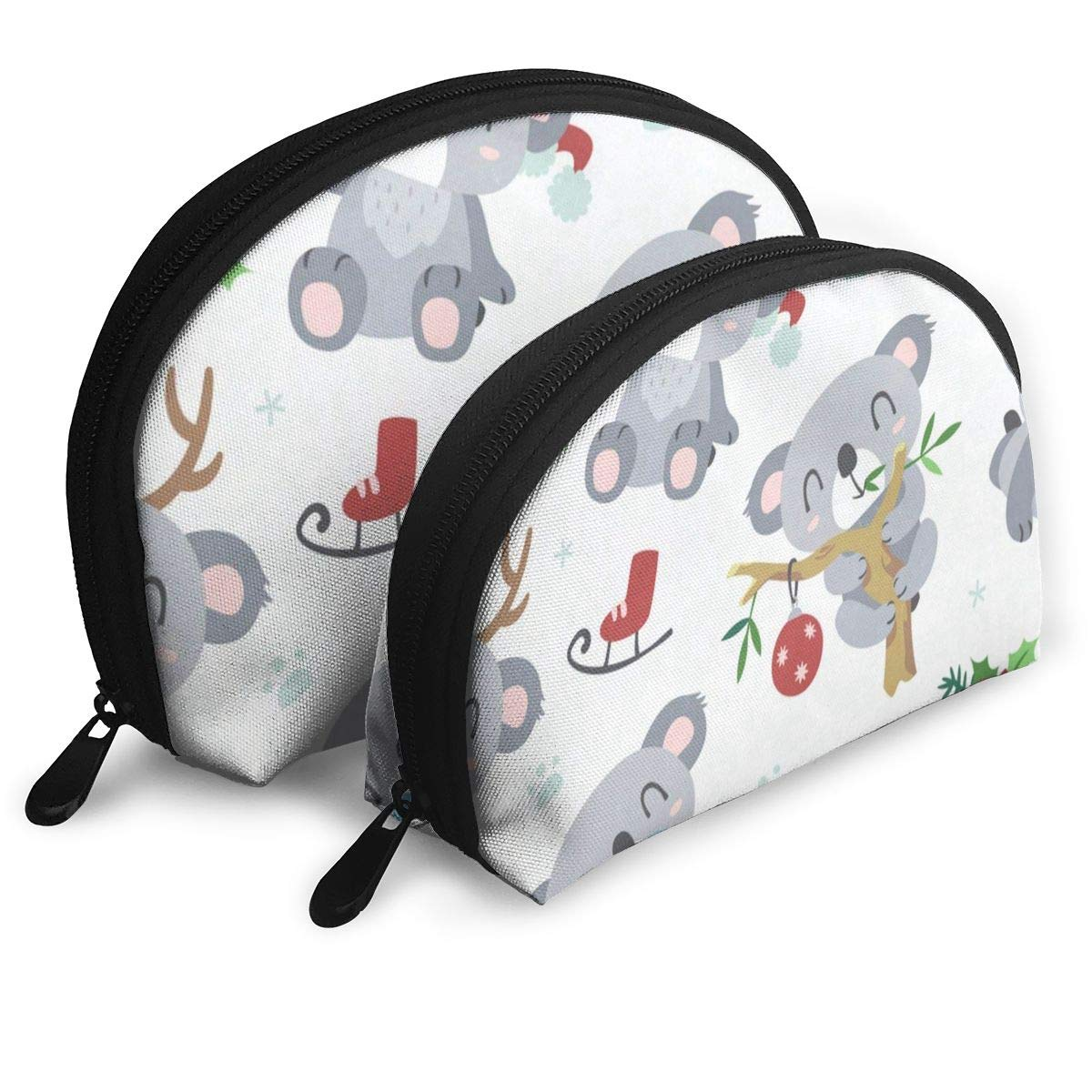 Amazon.com : Makeup Bag Koala Emoji Handy Half Moon Beauty ...