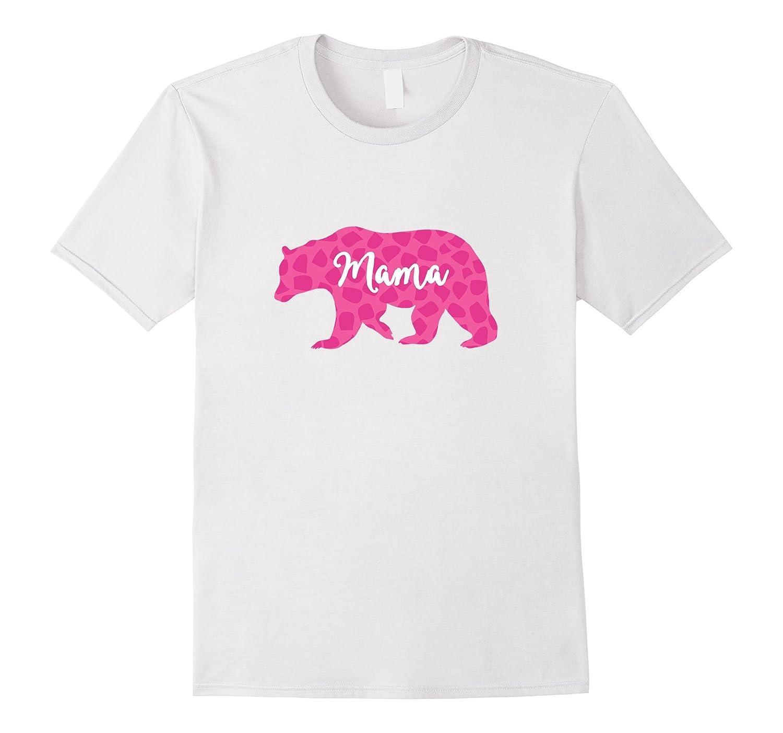 Pink Mama Bear Leopard Print Trendy T-Shirt-AZP