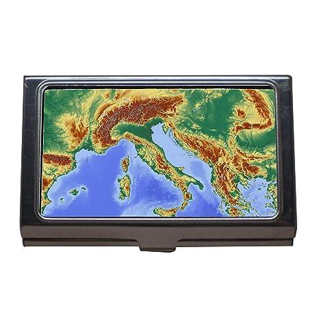 Porte Cartes De Visite Cartographie Italie Collier Dressage Chiens En Acier Inoxydable Amazonfr Fournitures Bureau