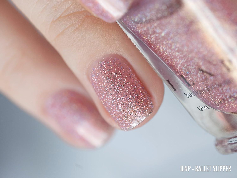 Amazon.com : ILNP Ballet Slipper - Soft Pink Holographic Nail Polish ...
