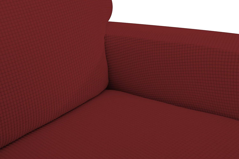 E EBETA Jacquard Copripoltrona Fodera per Poltrona Coprisedile Chivas Poltrona Reclinabile Relax Completo Elasticizzato con Tasche Color Sabbia