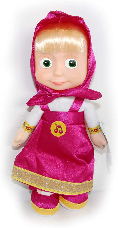 Mascha und der Bär 29cm in Box spricht//singt Weichkörper Puppe Masha i Medved