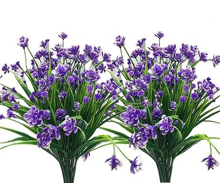 Cattree - Ramo de flores artificiales de lavanda, de plástico con ...