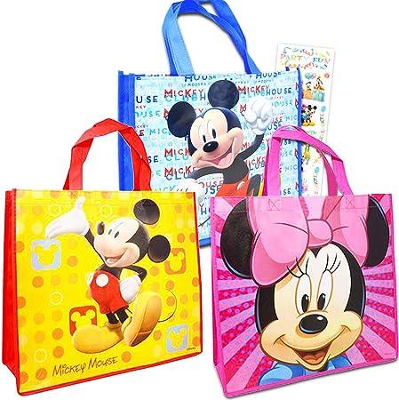 Disney Mickey Minnie Namegame PP Straw Tote Bag