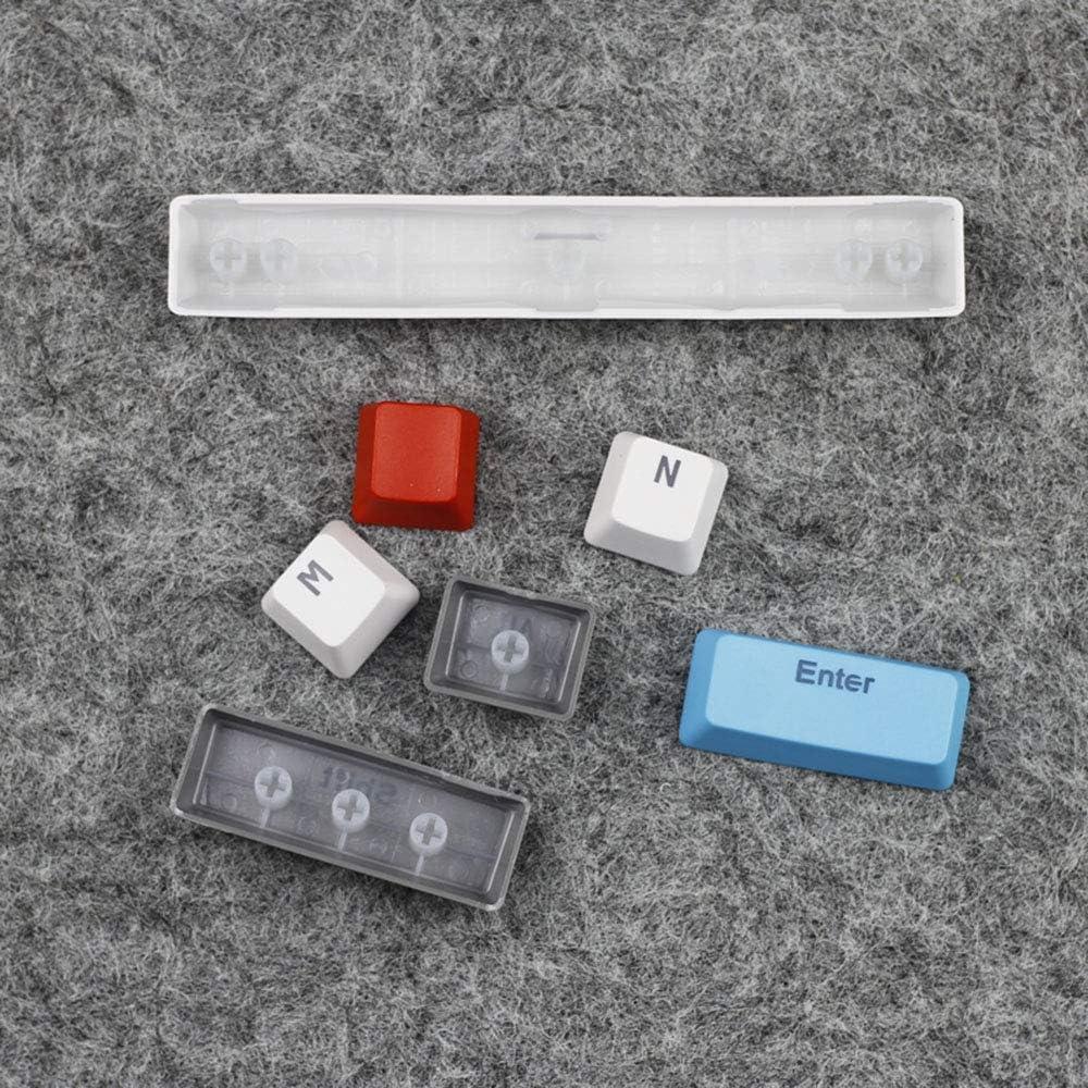 JayQm Clavier m/écanique 61 Touches de PBT Transparent d/époli 61 Capuchon de Touche Injection /à Deux Couleurs keycap