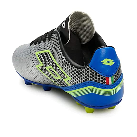 b5c2c7872ca1 Amazon.com | Lotto Boys Spectrum Elite Soccer Shoe, Kids, Silver/Blue |  Soccer