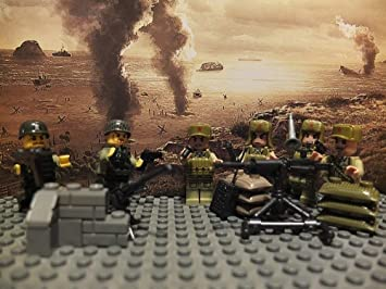 Kitoz Minifigures WW2 Chinese Japanese soldiers with Weapons: Amazon