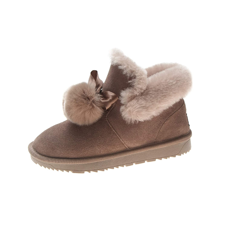 Shukun Shukun Shukun Stiefeletten Warme Baumwolle Schuhe Schnee Stiefel Kaschmir Stiefel Mode Flache Kurze Stiefel Frauen warm halten 9d1622