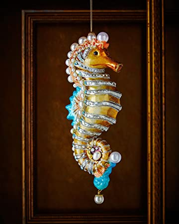 jay strongwater seahorse christmas ornament - Seahorse Christmas Ornament