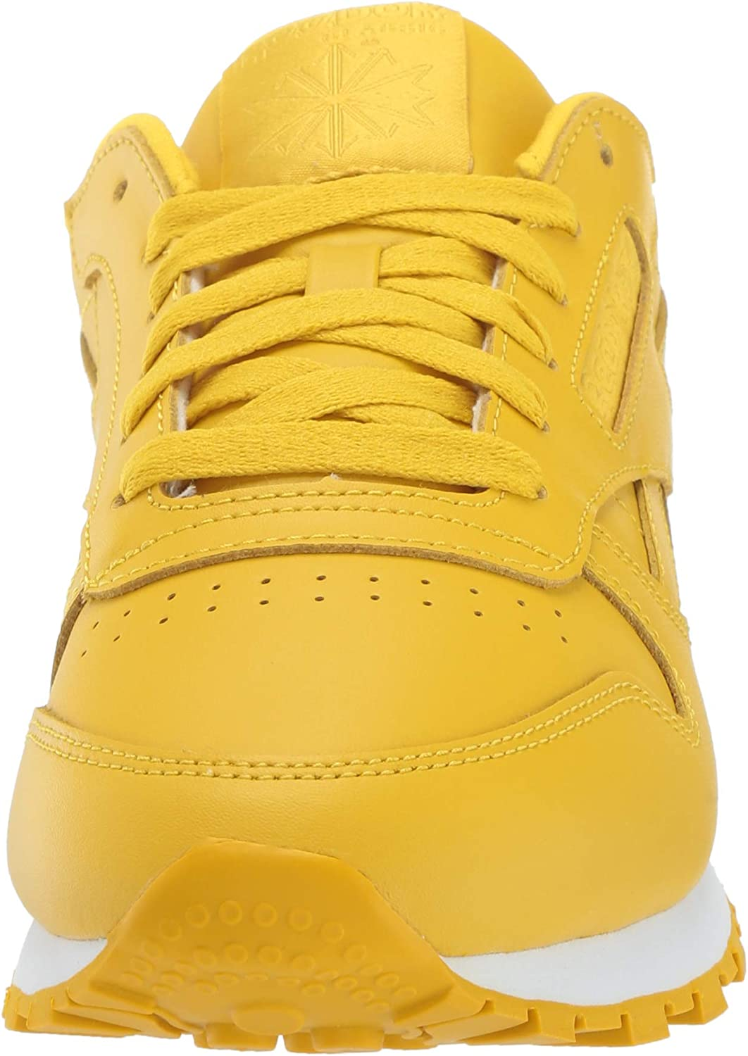 Reebok - Classic Leather L Baskets Basses Femme Urbain Jaune Blanc
