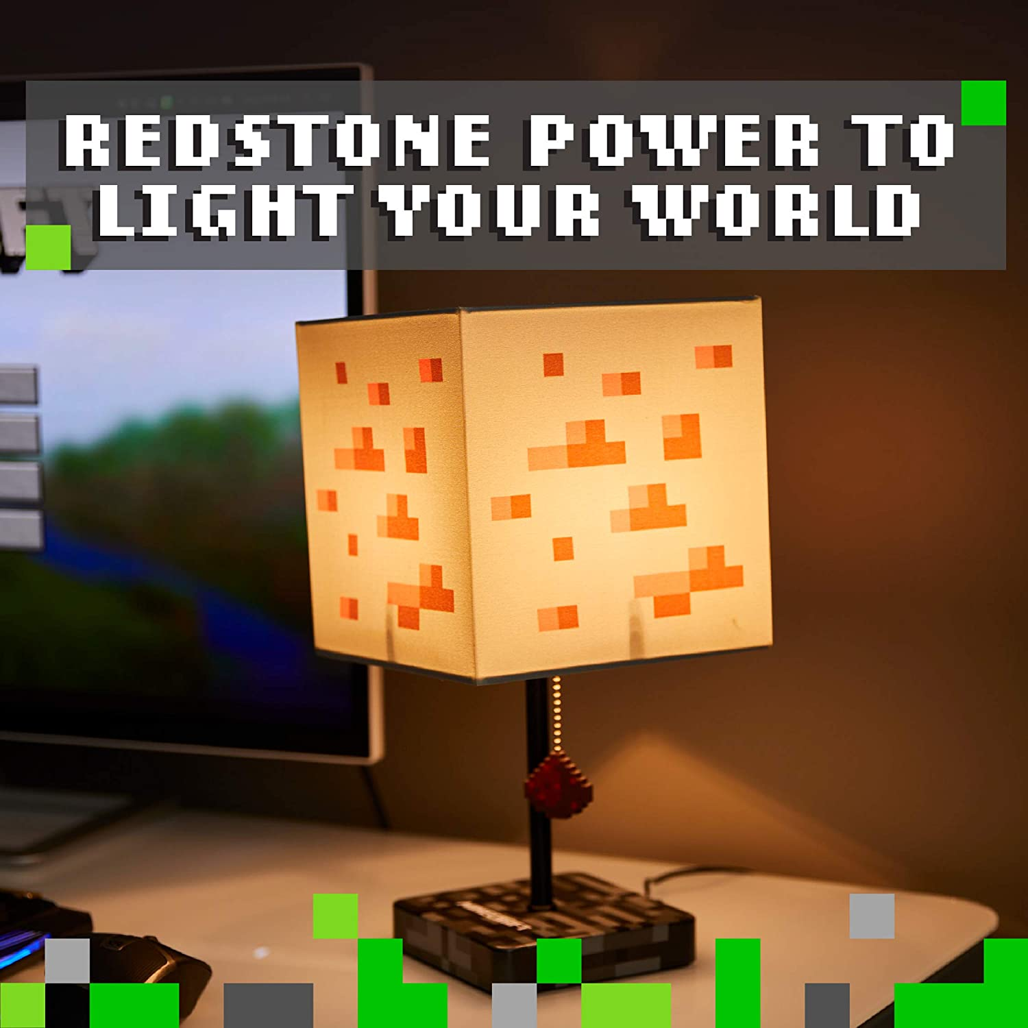 Paladone Minecraft Redstone Lamp with LED Light and Standard UK