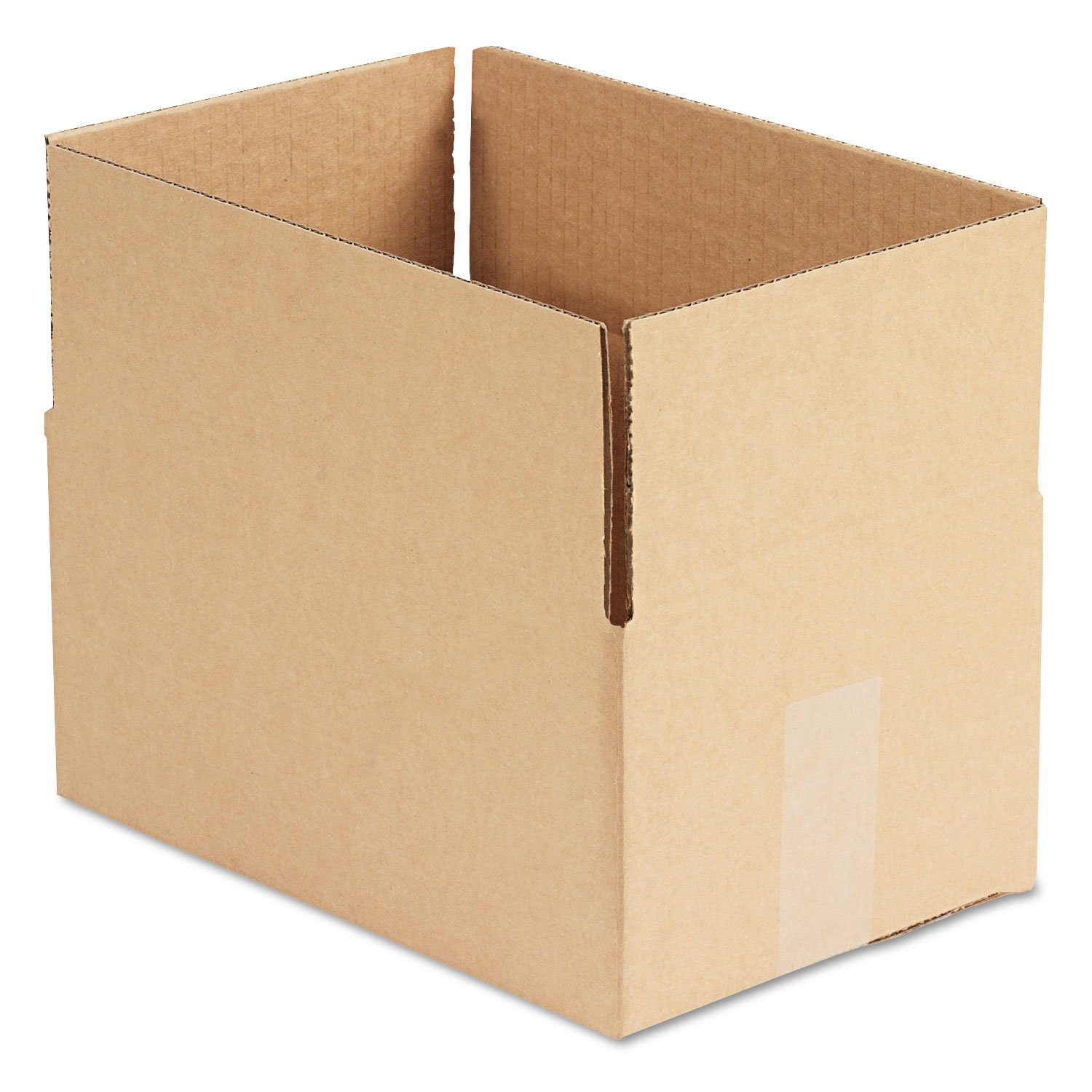General Supply 1286 Brown Corrugated - Fixed-Depth Shipping Boxes, 12l x 8w x 6h, 25/Bundle