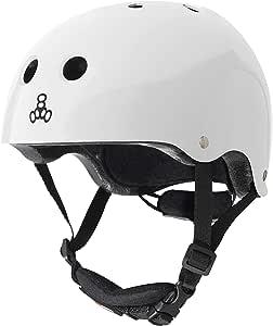 Triple Eight Lil 8 Dual Certified Sweatsaver - Monopatín y Casco de Bicicleta para niños con Hebilla de Barbilla Acolchada