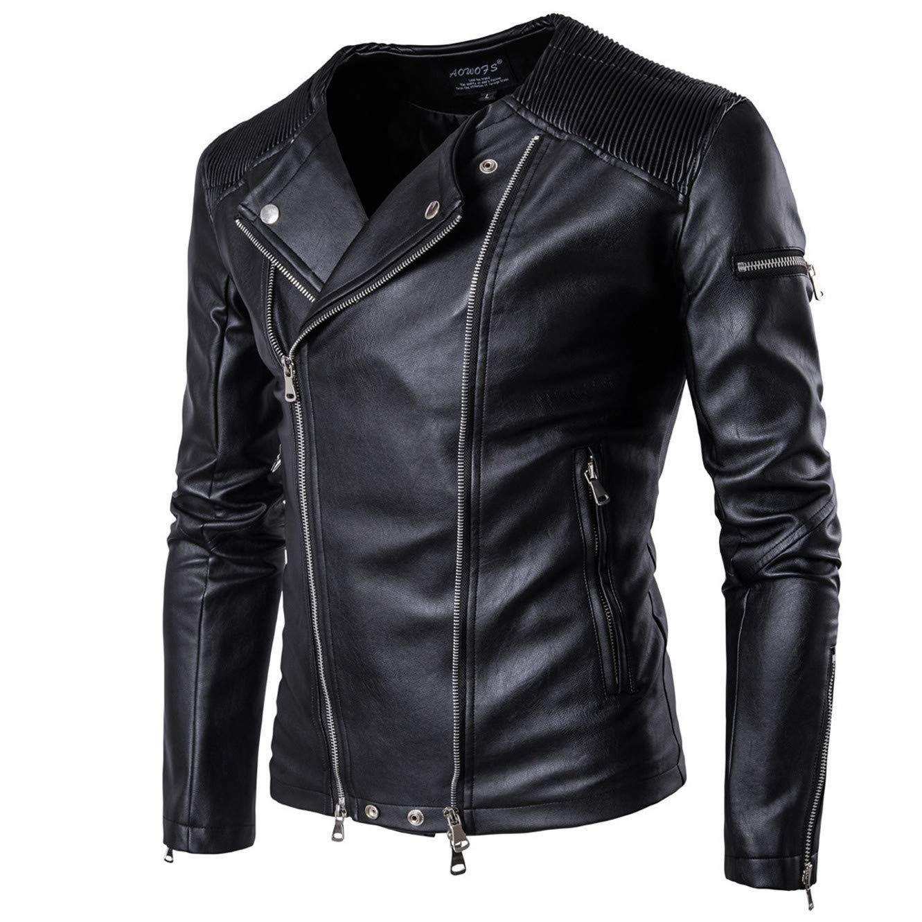 Hombres Primavera Oto?o PU Estilo Punk Leather Ropa Chaqueta Moda Ocio Locomotora Comprar Chaqueta Abrigo B001: Amazon.es: Ropa y accesorios
