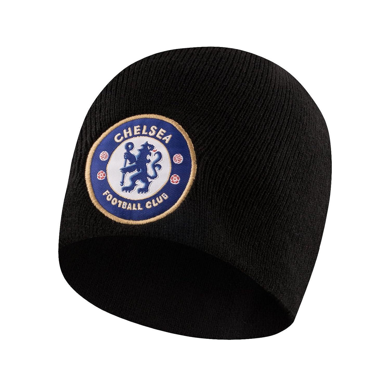 Chelsea FC - Gorro básico oficial de punto - Para niños - Con el escudo del  club Navidad f78eeff2be2
