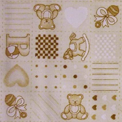 Polycotton Fabric Craft Pink BABY NURSERY TEDDY BEAR Half  Metre Special Offer
