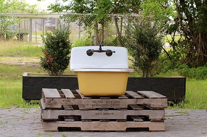 Amazon Com Vintage Style Large Utility Sink Deep Basin Cast Iron